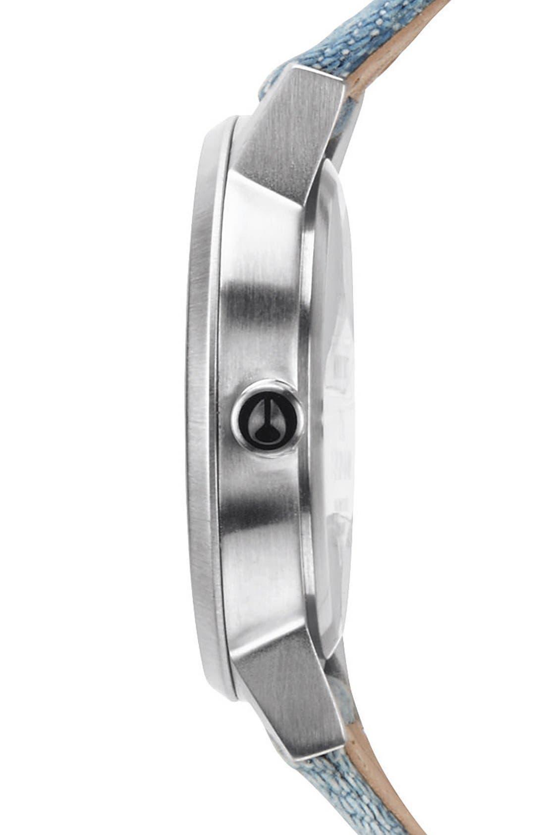 Alternate Image 3  - Nixon 'The Kensington' Denim Strap Watch, 37mm
