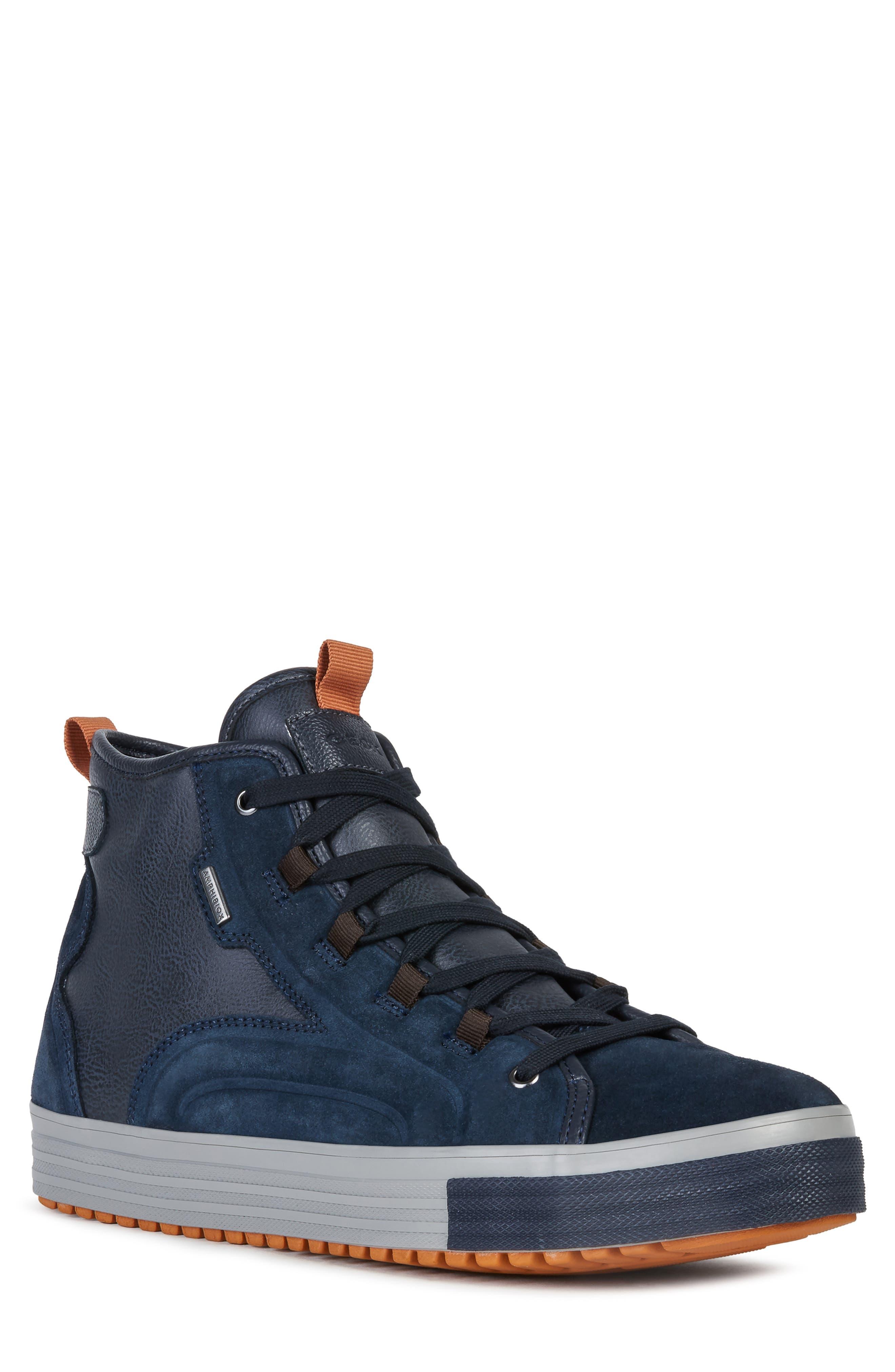 Waterproof White Sneakers Geox Amphibiox | • kicks