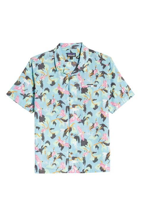 Patagonia Lightweight A/C? Regular Fit Print Cotton & Hemp Short Sleeve Shirt