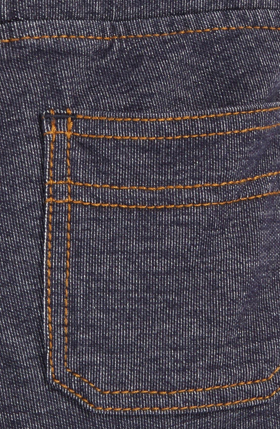 Denim Look Shorts,                             Alternate thumbnail 3, color,                             Indigo