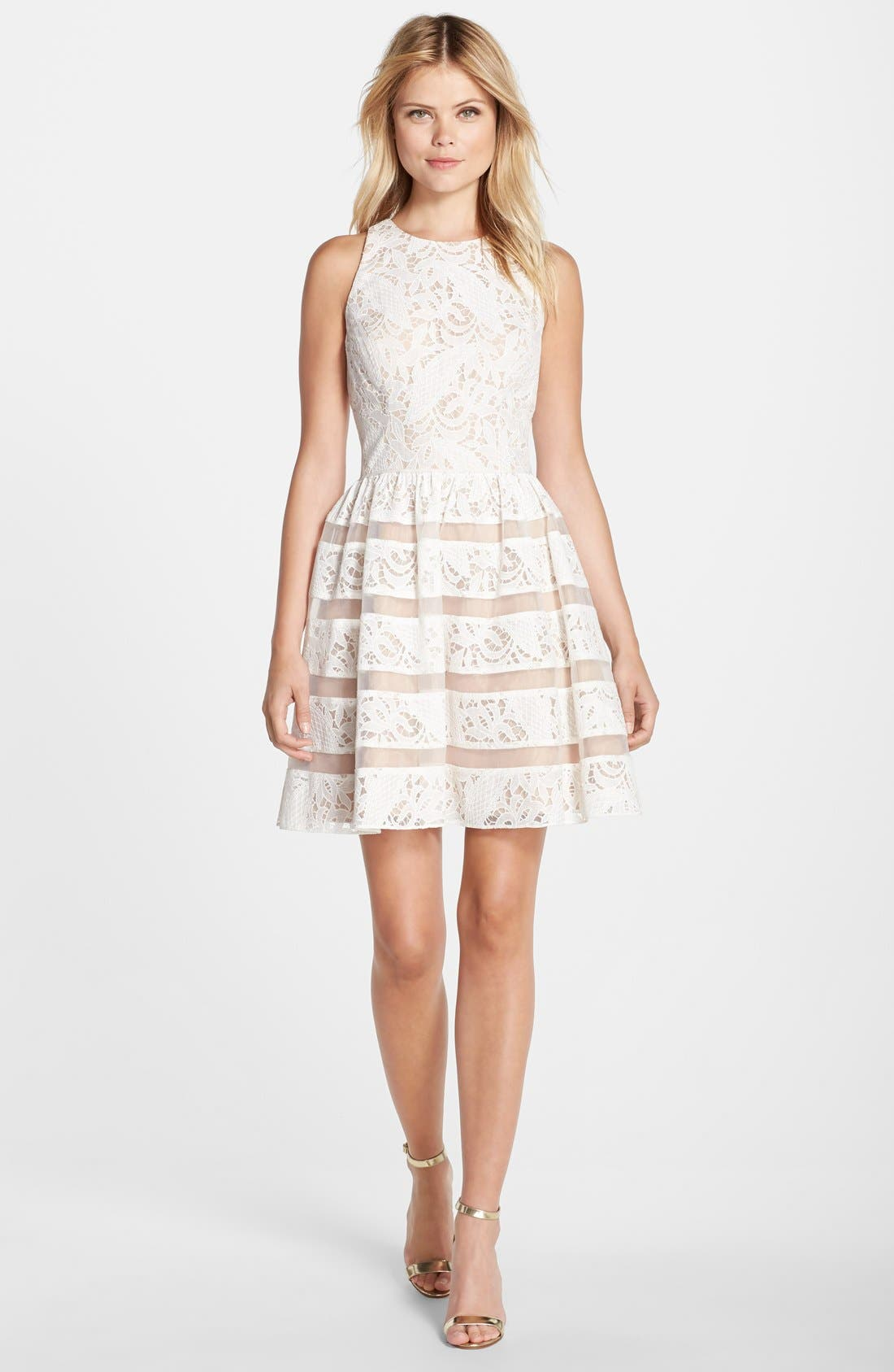 Alternate Image 3  - Aidan by Aidan Mattox Lace Fit & Flare Dress