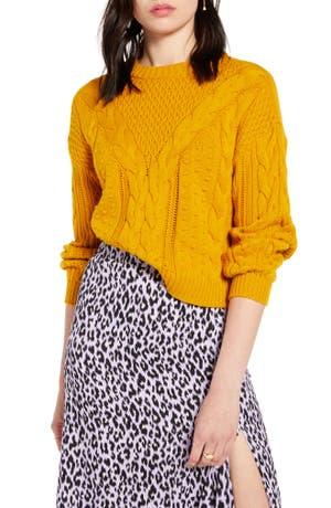 BP. x Claudia Sulewski Cable Sweater (Regular & Plus Size)
