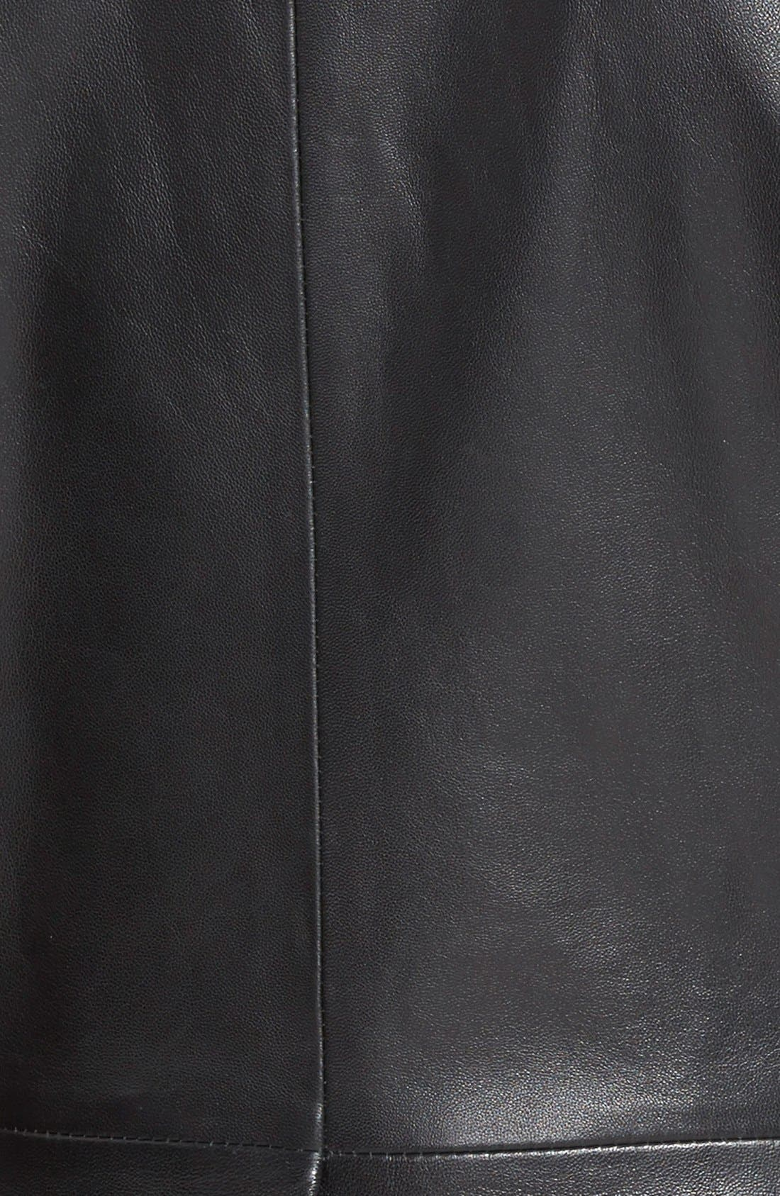 Alternate Image 3  - Classiques Entier® 'Brenna' Leather Jacket with Detachable Genuine Toscana Shearling Collar (Regular & Petite)