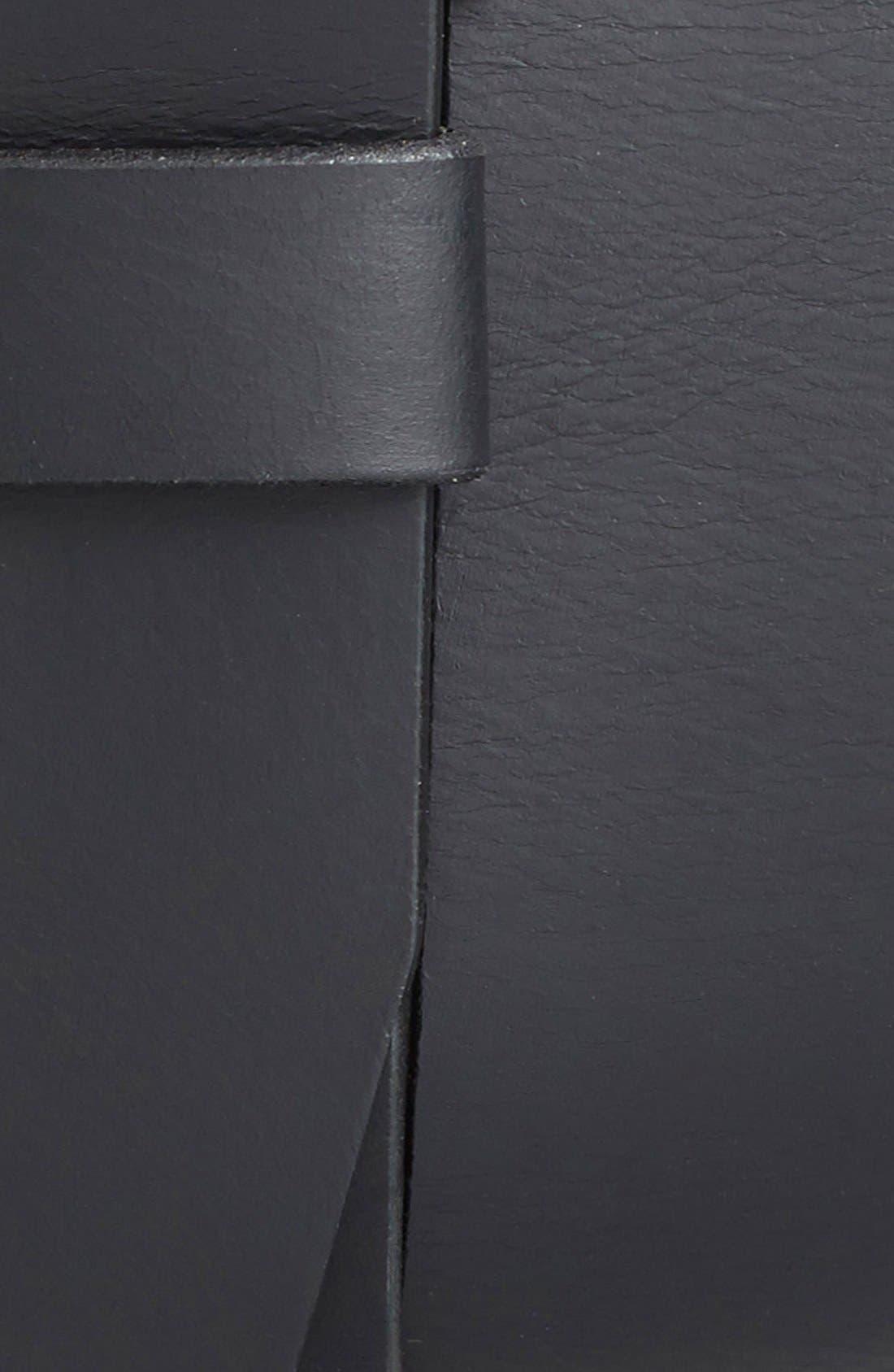 Roller Buckle Belt,                             Alternate thumbnail 3, color,                             Black