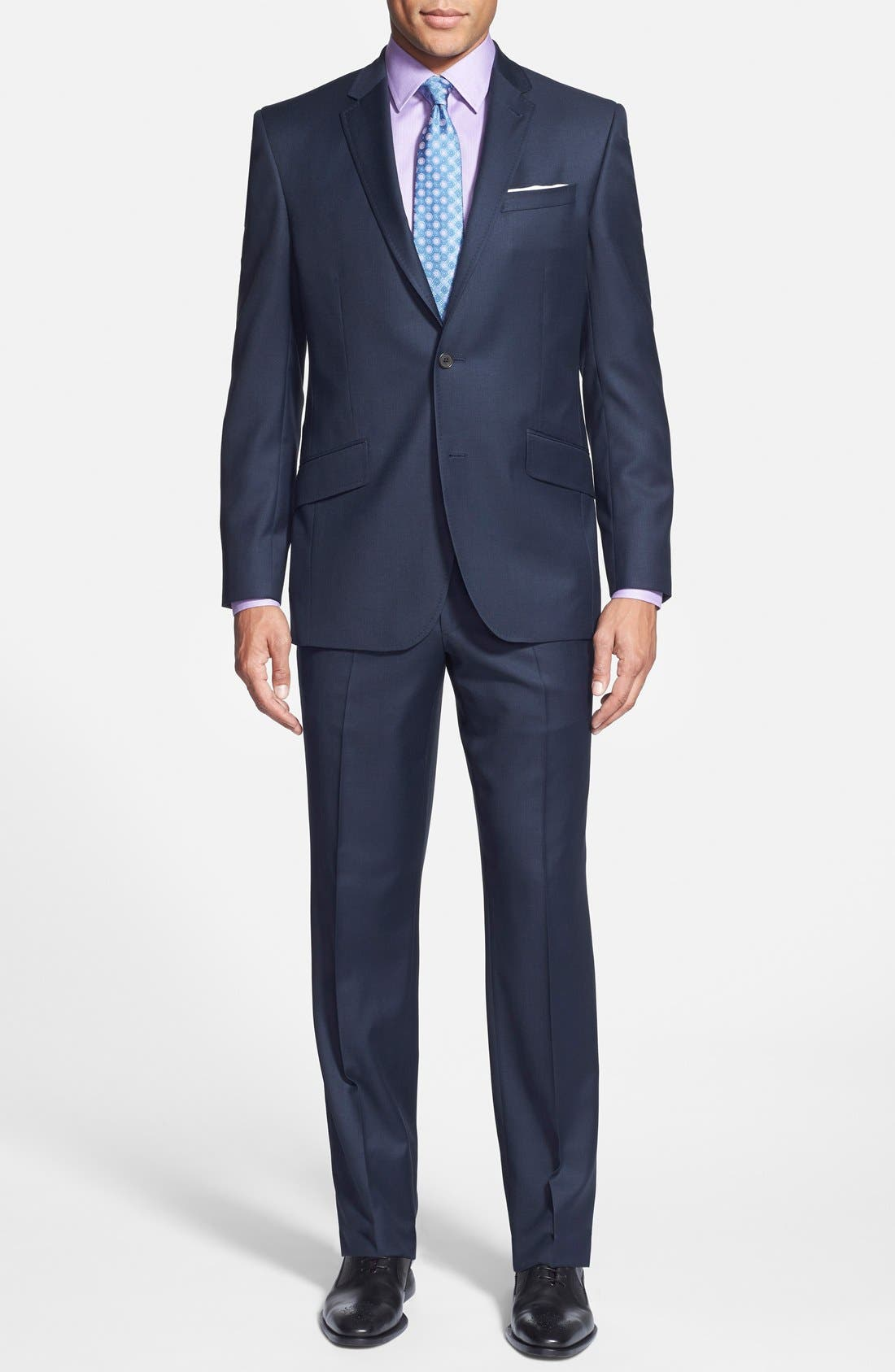 Ted Baker London Jones Trim Fit Solid Wool Suit