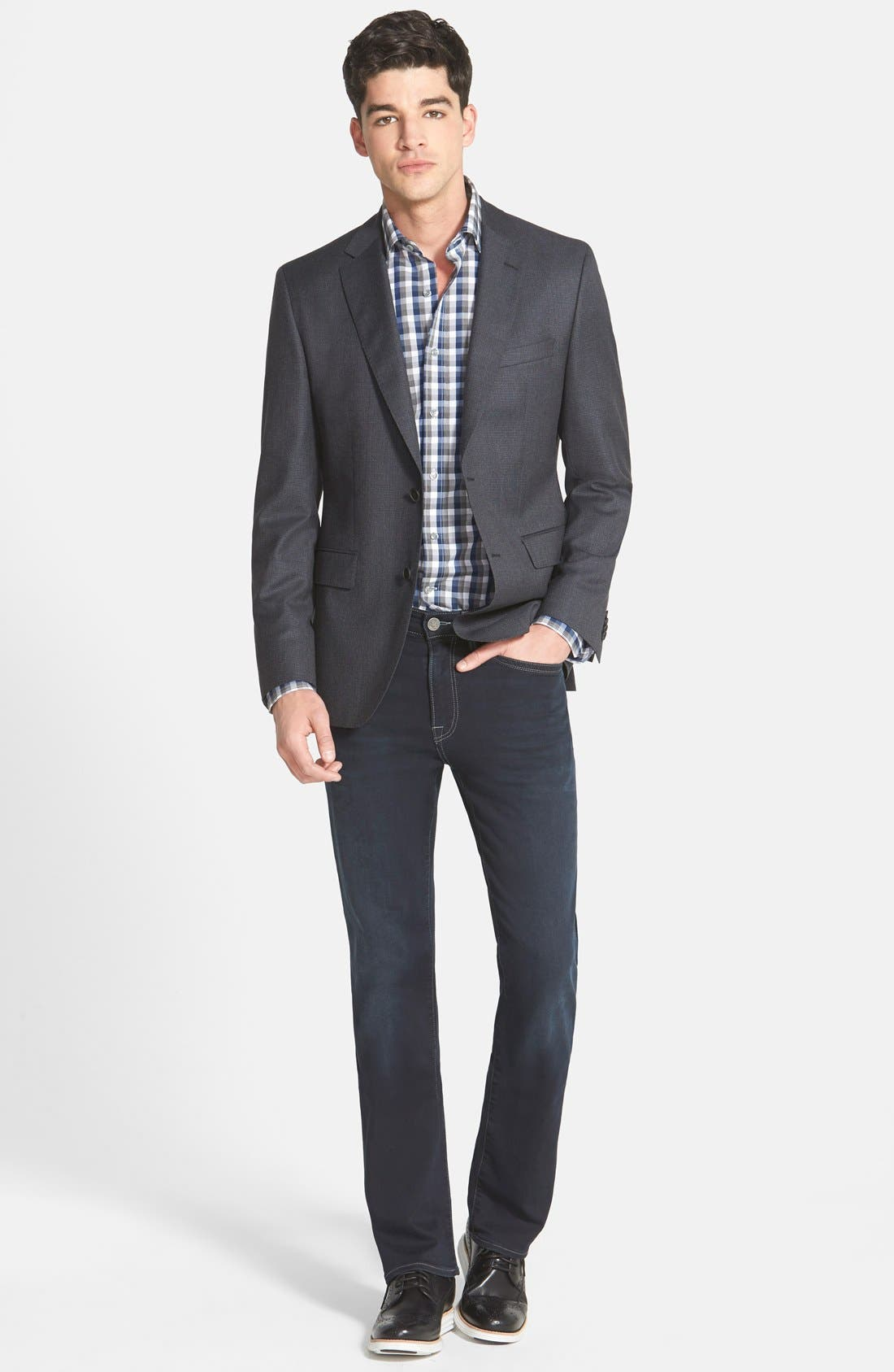 'Charisma' Classic Relaxed Fit Jeans,                             Alternate thumbnail 5, color,                             Midnight Austin