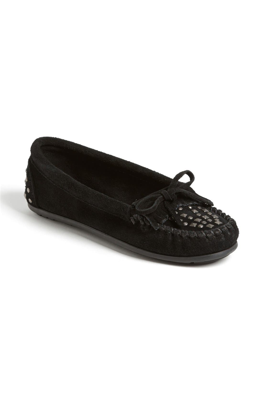 Alternate Image 1 Selected - Minnetonka Double Studded Moccasin (Regular Retail Price: $49.95)