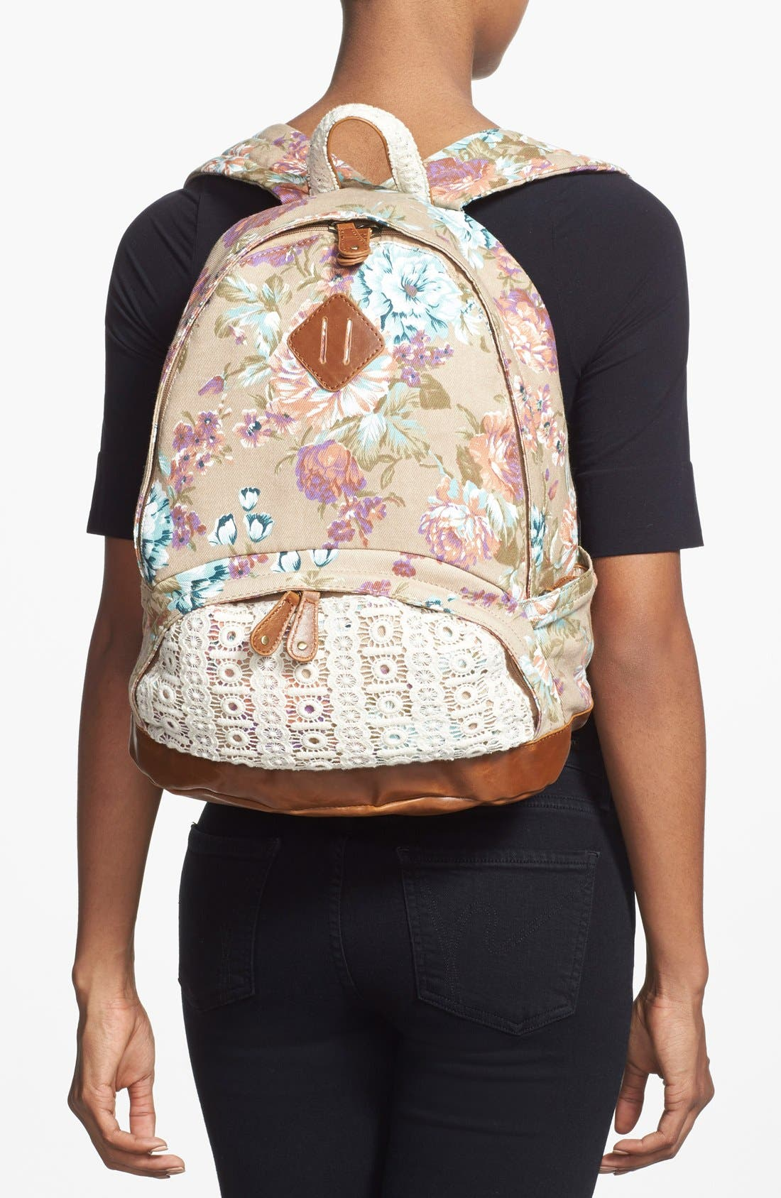 Alternate Image 2  - Nila Anthony Floral Print Backpack