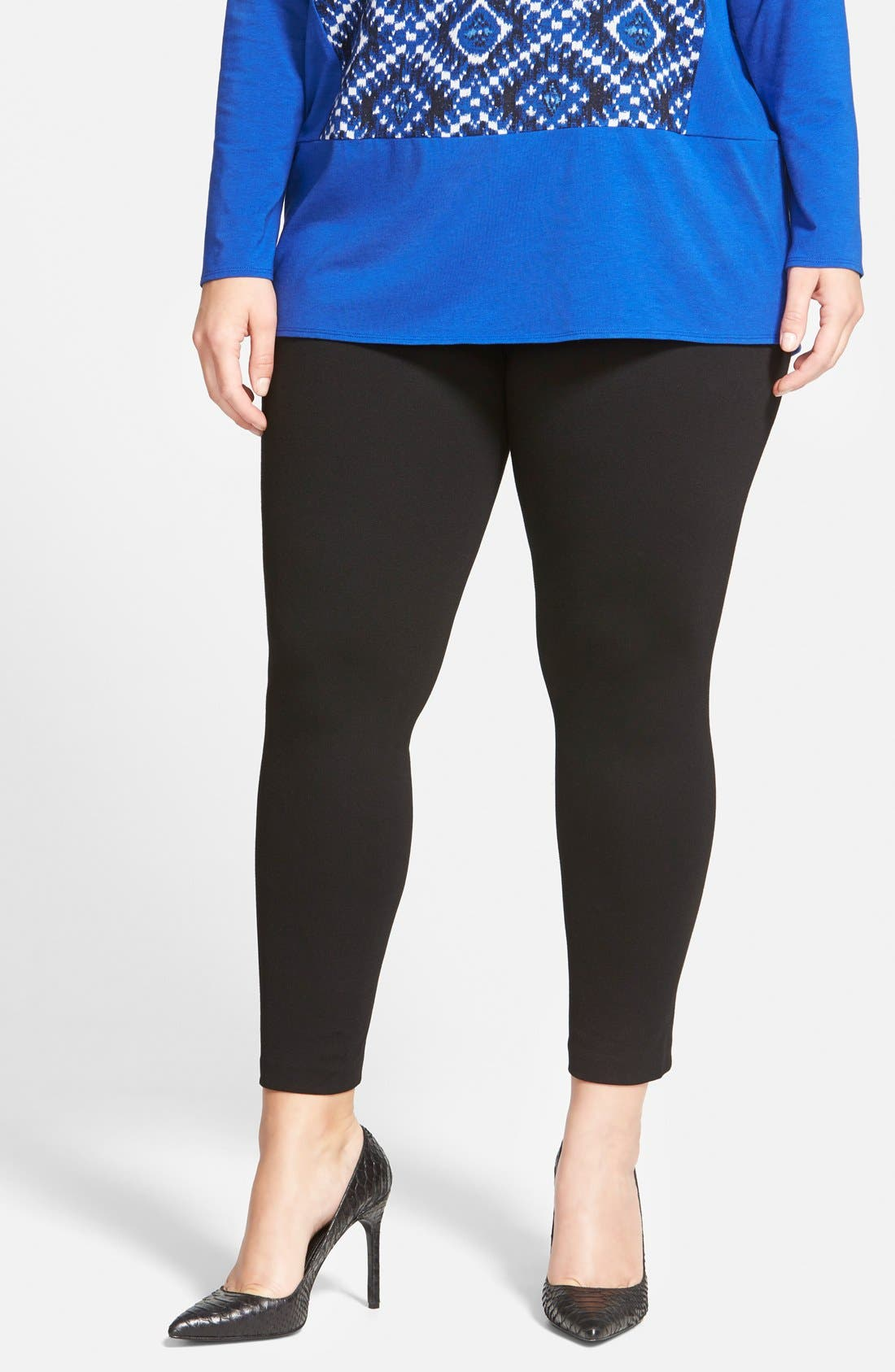 TWO BY VINCE CAMUTO High Rise Leggings in Rich Black
