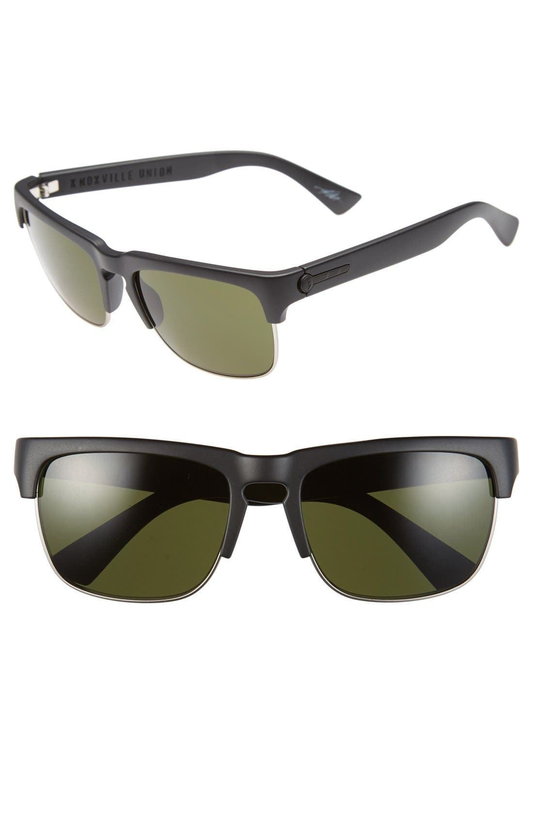 'Knoxville Union' 55mm Sunglasses,                             Main thumbnail 1, color,                             Matte Black/ Grey