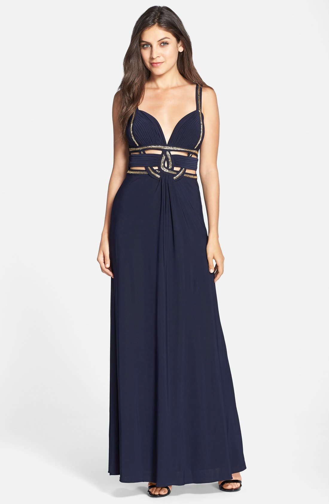 Main Image - Betsy & Adam Cutout Jersey Gown