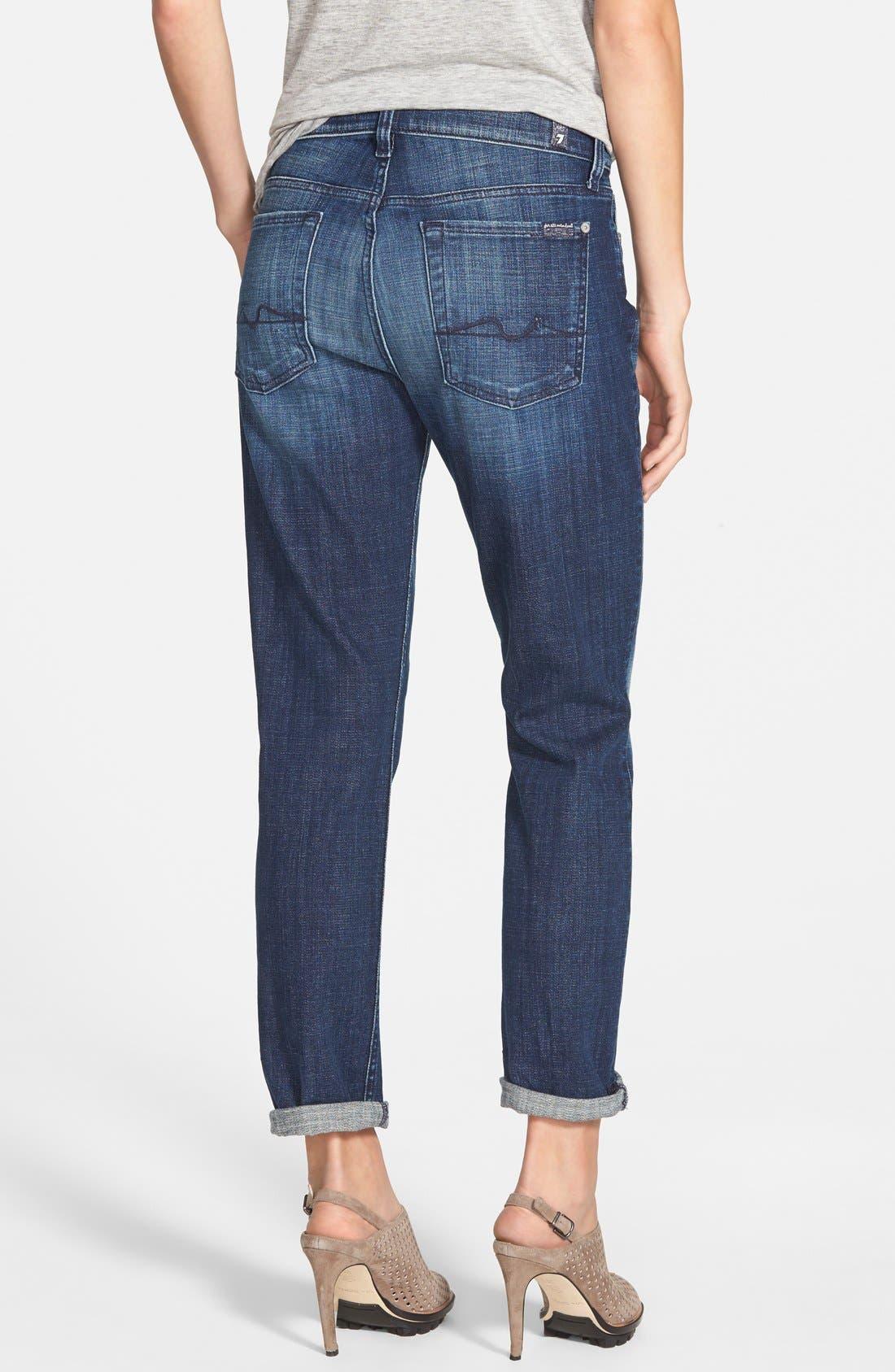 Alternate Image 2  - 7 For All Mankind® 'Josefina' Boyfriend Jeans (Royal Broken Twill)