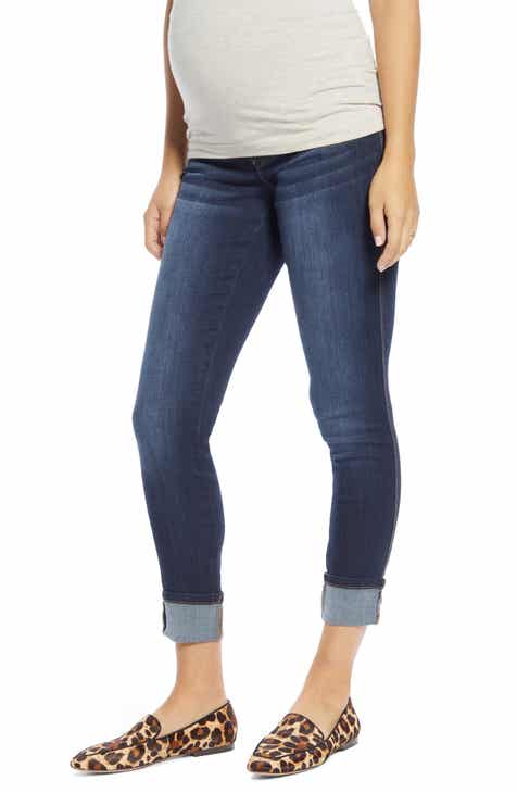 1822 Denim Roll Cuff Skinny Maternity Jeans (Giovanna)