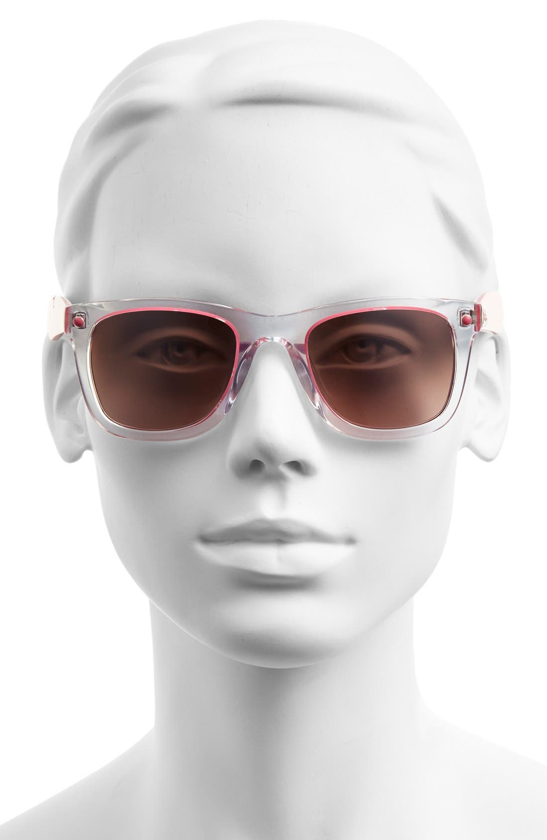 'Gabby' 49mm Retro Sunglasses,                             Alternate thumbnail 2, color,                             Crystal/ Hibiscus