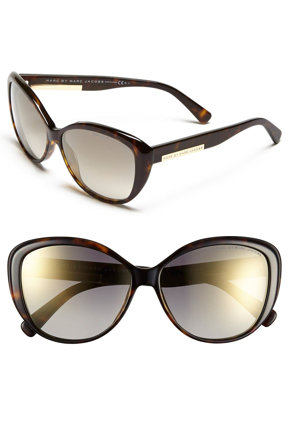 Main Image - MARC BY MARC JACOBS 58mm Retro Sunglasses (Nordstrom Exclusive)