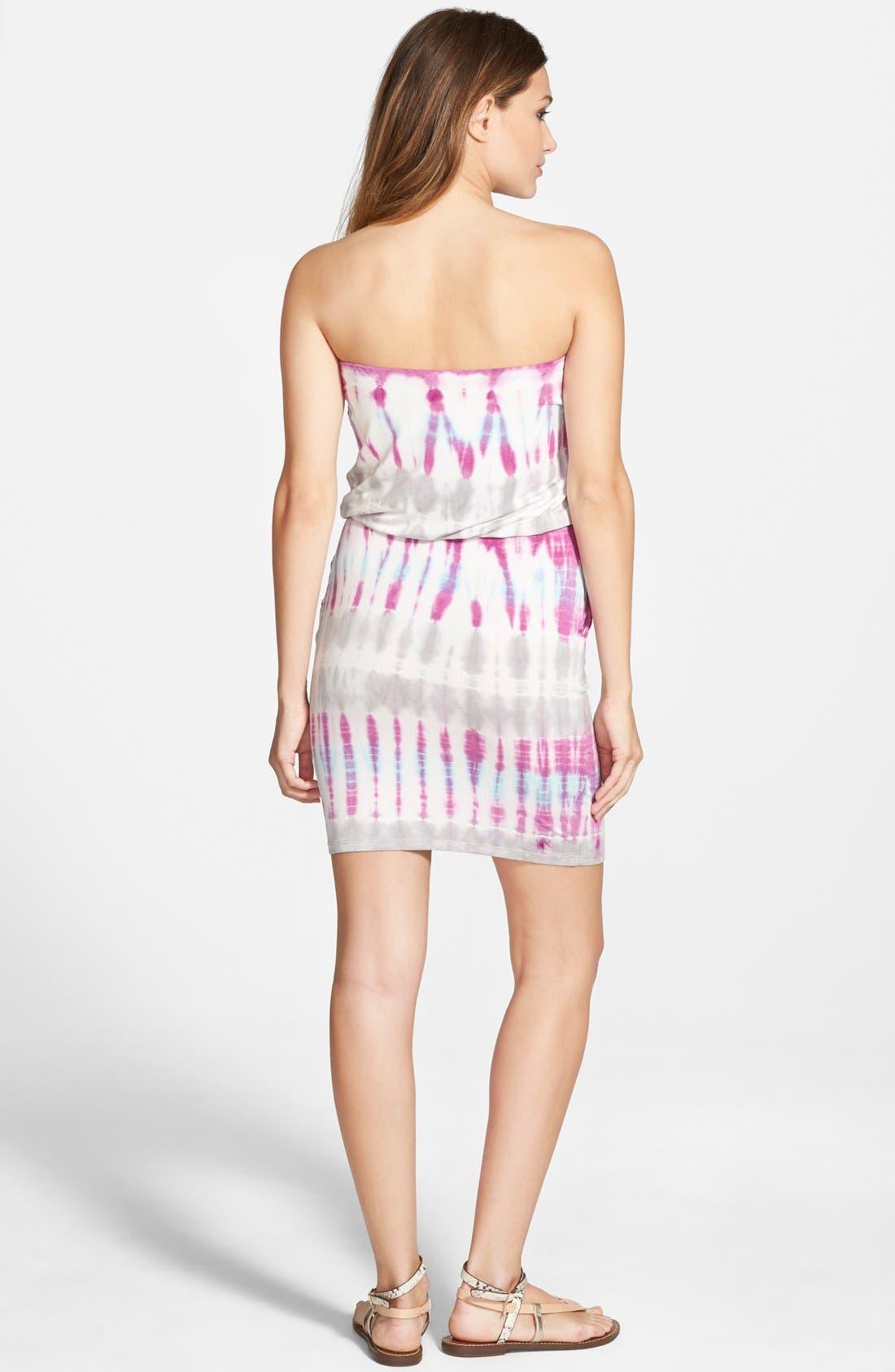 Alternate Image 2  - Young, Fabulous & Broke 'Freya' Strapless Tie Dye Dress
