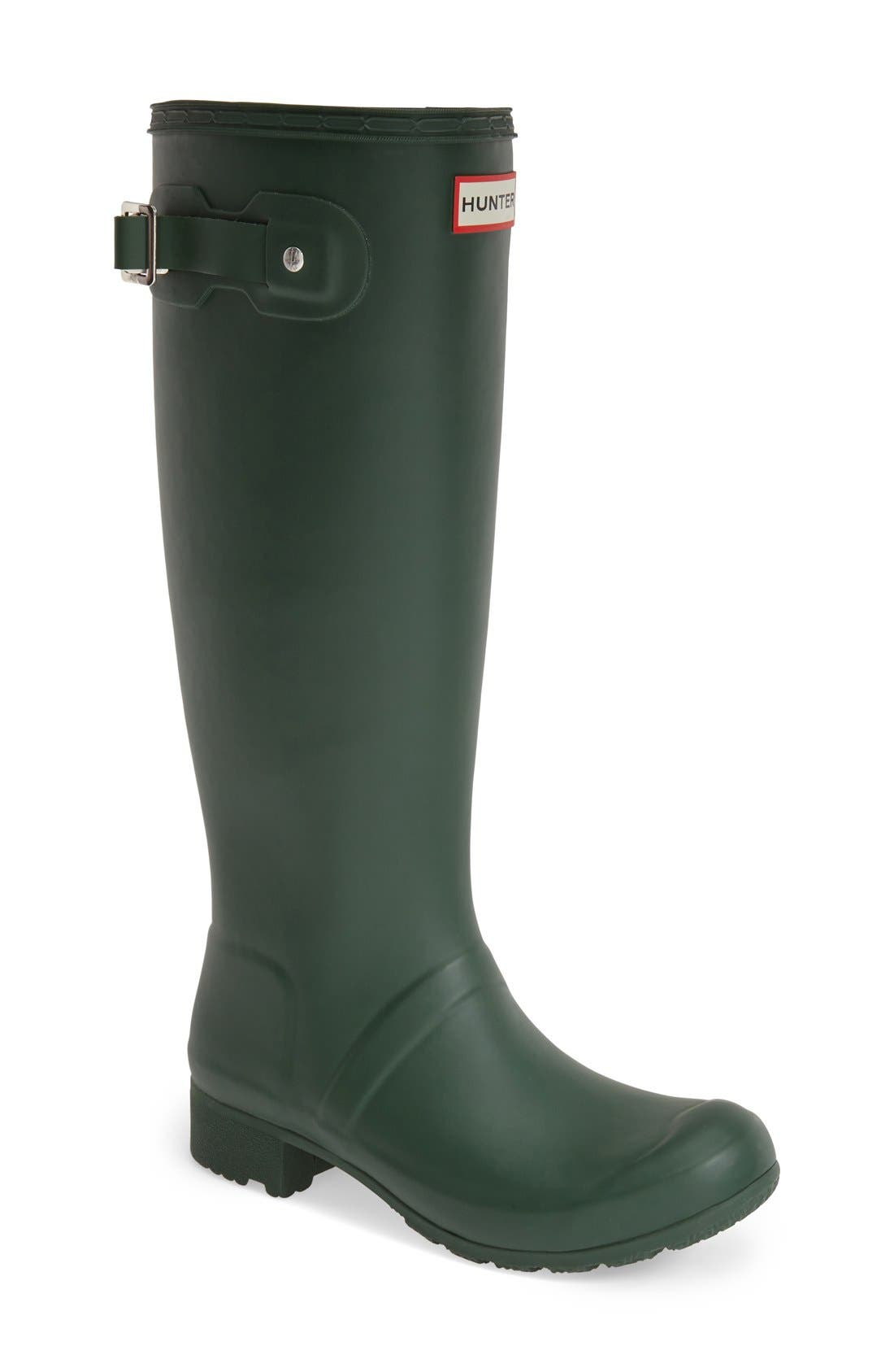 'Tour' Packable Rain Boot,                             Main thumbnail 1, color,                             Hunter Green