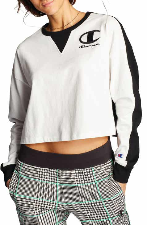 Champion Long Sleeve Crop Tee