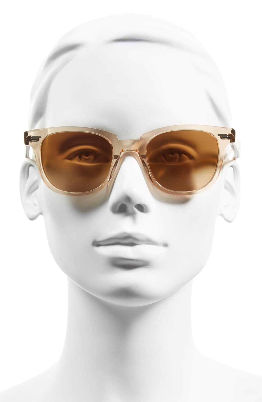 'Masek' 51mm Retro Sunglasses,                             Alternate thumbnail 2, color,                             Pink/ Rose Quartz Mirror
