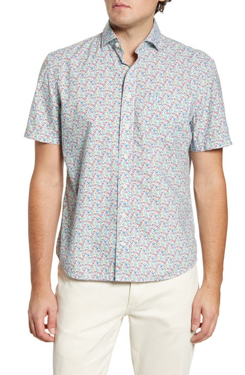johnnie-O Hangin' Out Vincent Floral Short Sleeve Button-Up Shirt