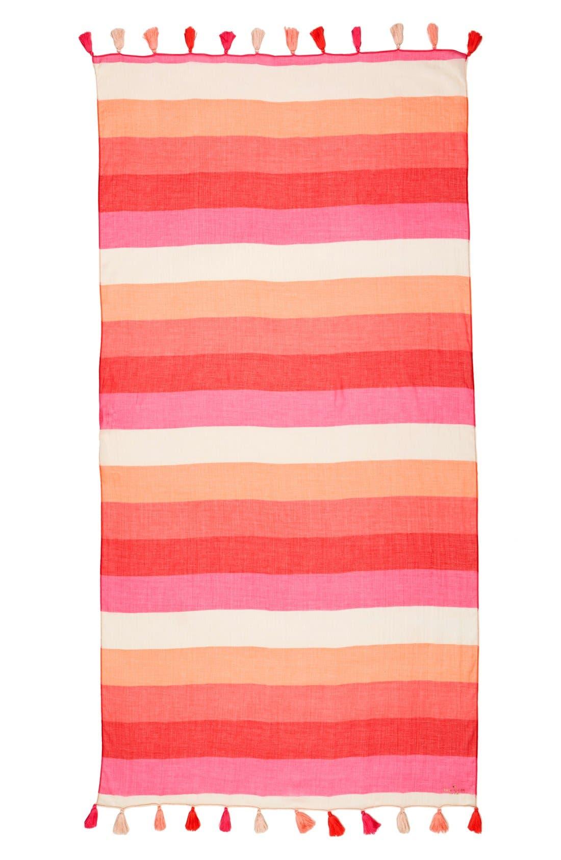 Alternate Image 2  - kate spade new york 'ombré pom' colorblock scarf
