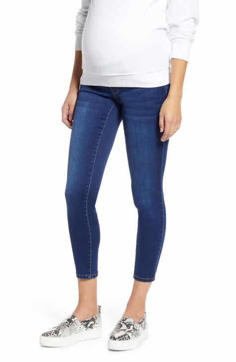 1822 Denim Butter Crop Skinny Maternity Jeans (Lennox)