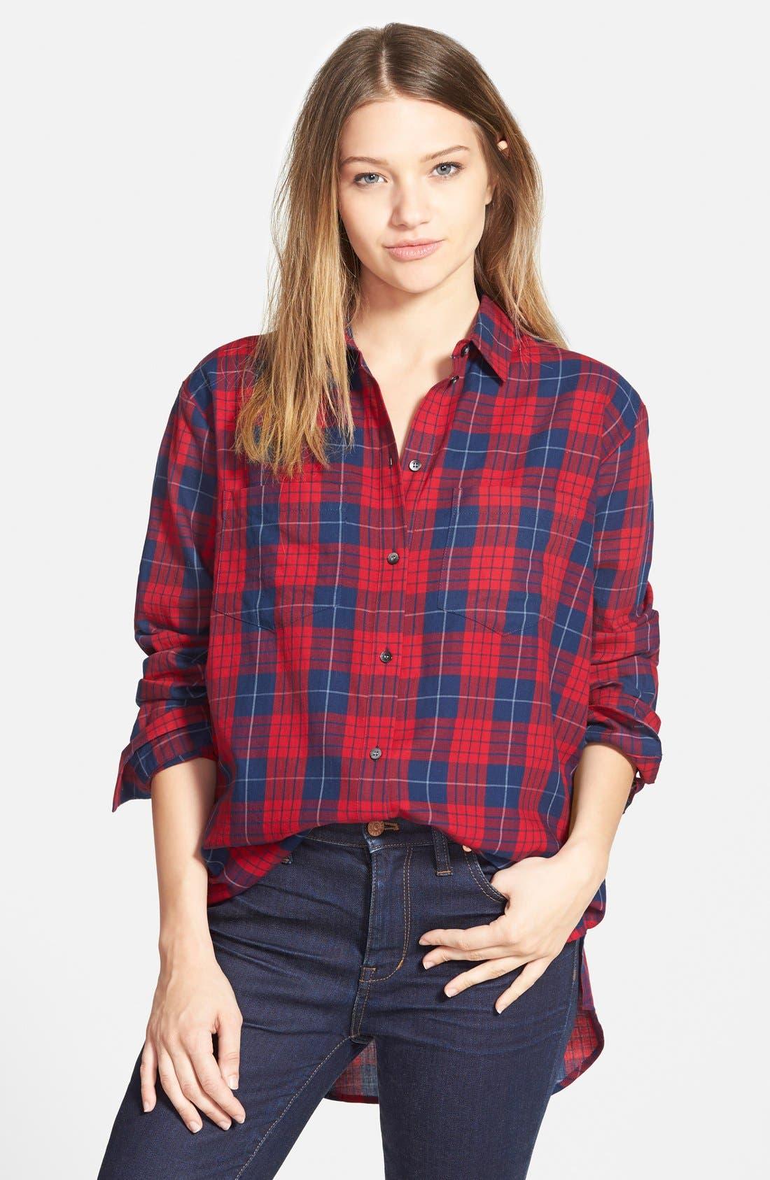 Main Image - Madewell 'Edina Plaid' Oversize Boyshirt