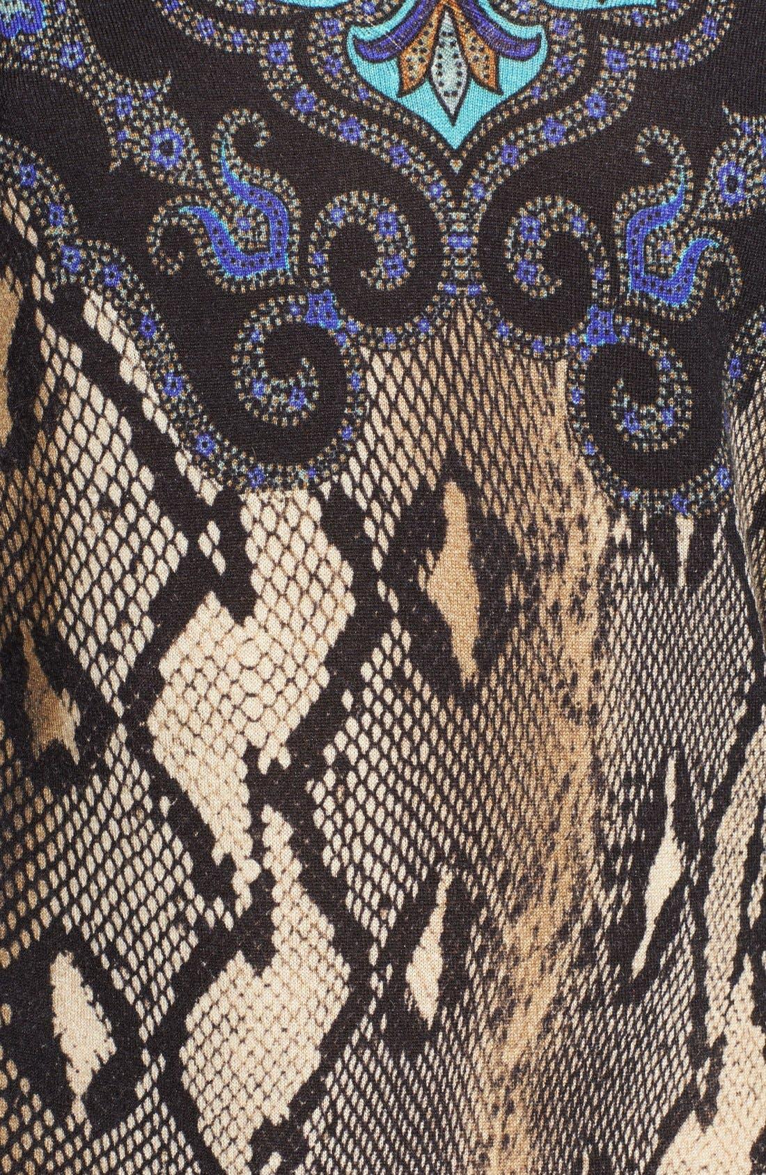 Alternate Image 3  - Etro Python Print Silk & Cashmere Sweater