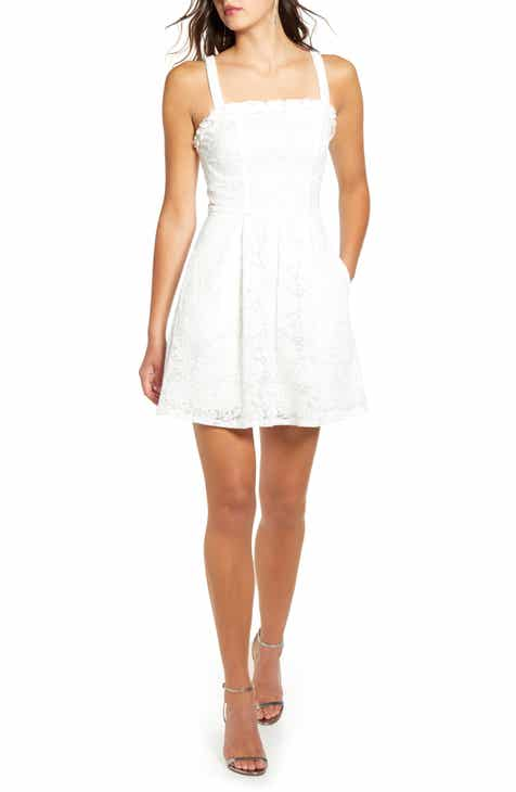 Speechless Ruffle Trim Pleated Minidress