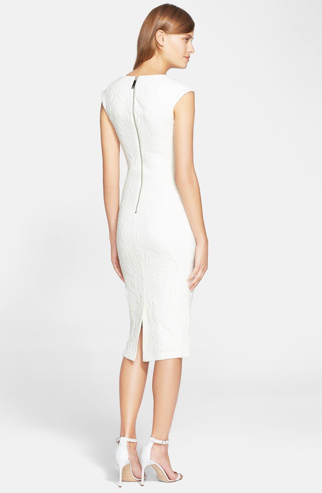 Alternate Image 2  - Ted Baker London 'Sancha' Textured Midi Dress