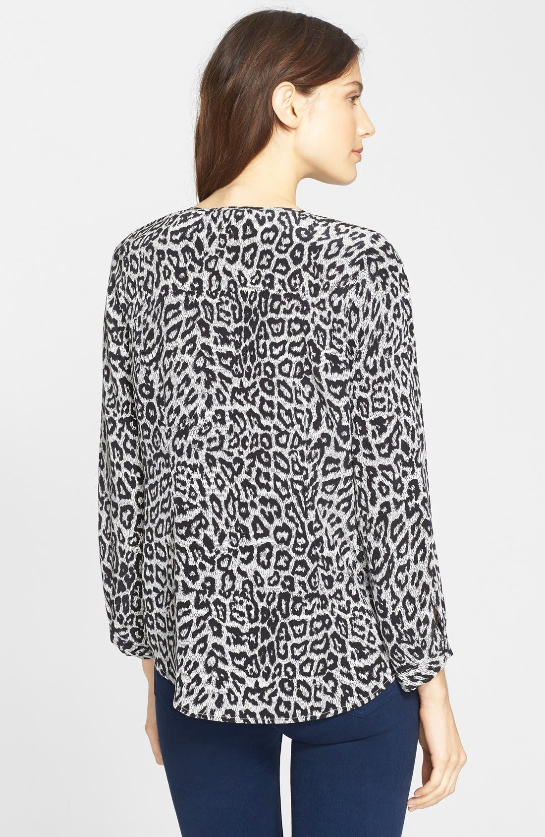 Alternate Image 2  - Joie 'Purine' Animal Print Silk Blouse