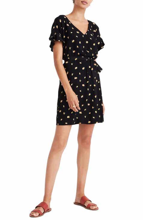 Madewell Ruffle Sleeve Easy Dress