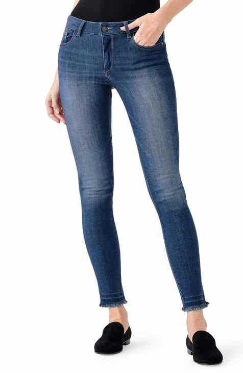DL1961 Camila Ankle Skinny Jeans (Quilter)