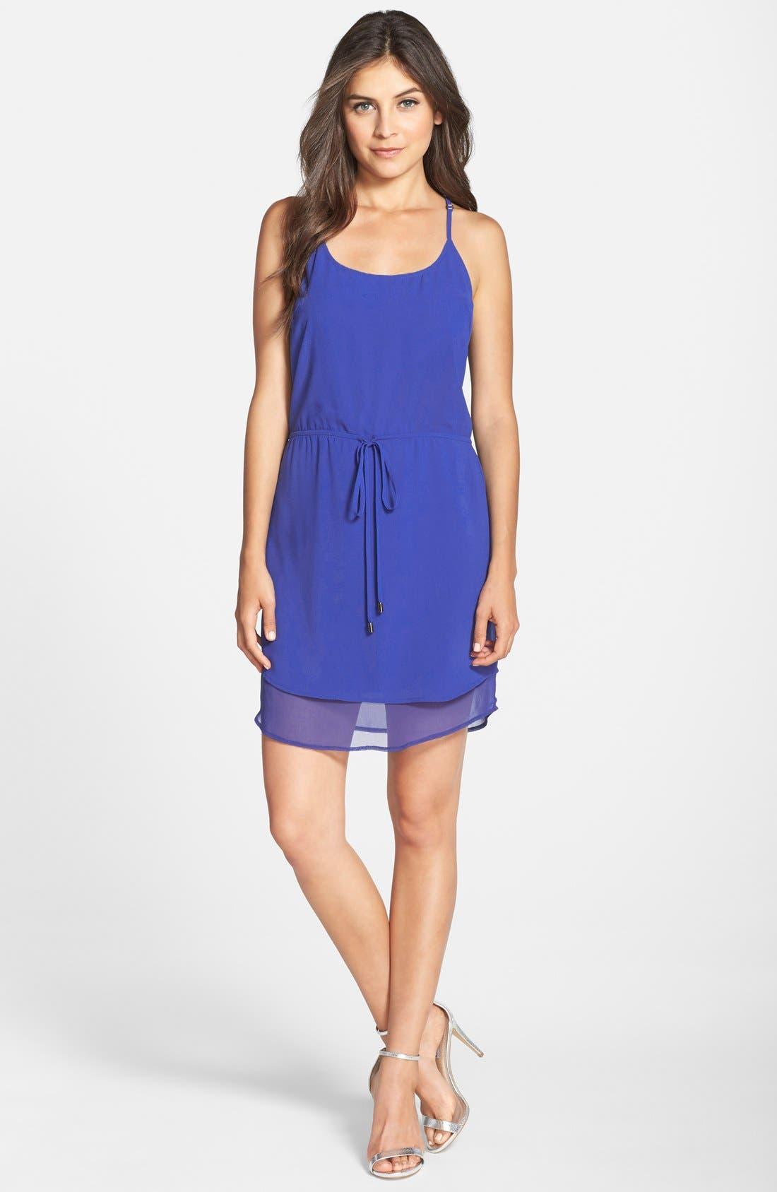 Alternate Image 3  - Adelyn Rae Layered Drawstring Chiffon Dress