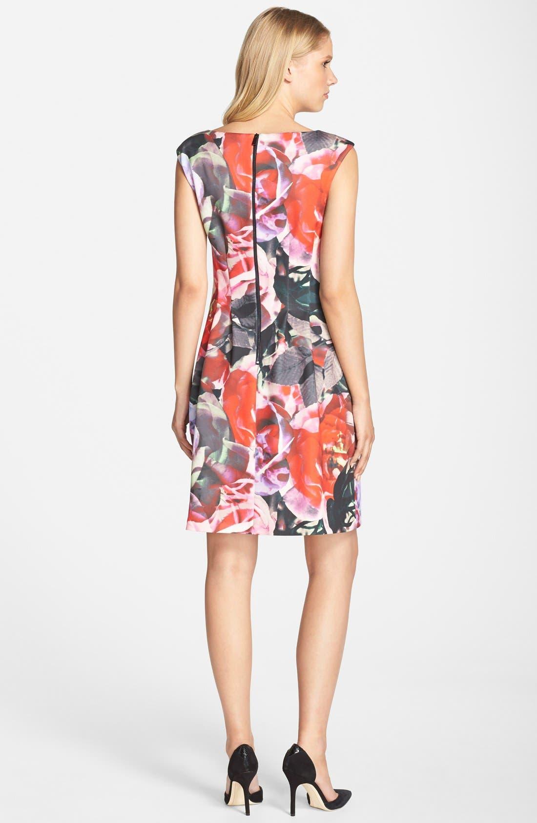 Alternate Image 2  - Vince Camuto Floral Print Scuba Fit & Flare Dress (Regular & Petite)