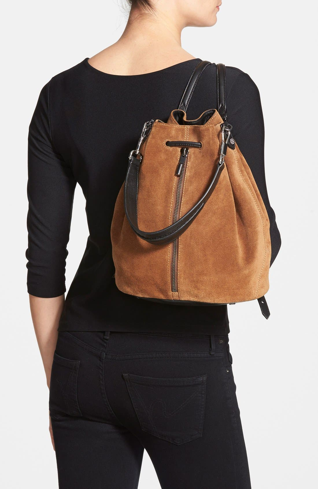 Alternate Image 2  - Elizabeth and James 'Cynnie' Suede Sling Backpack