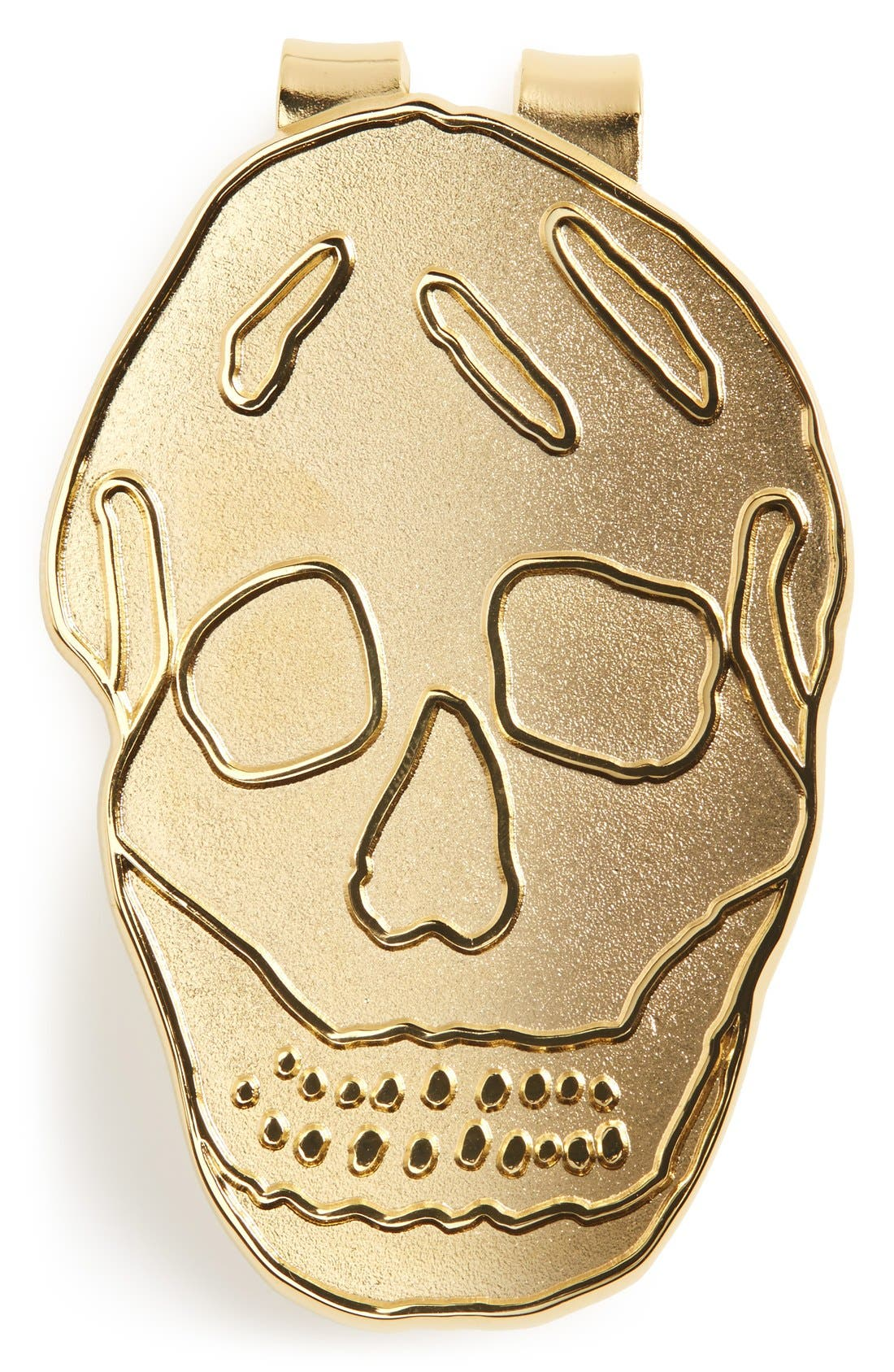 Golden Skull Money Clip,                             Main thumbnail 1, color,                             Gold