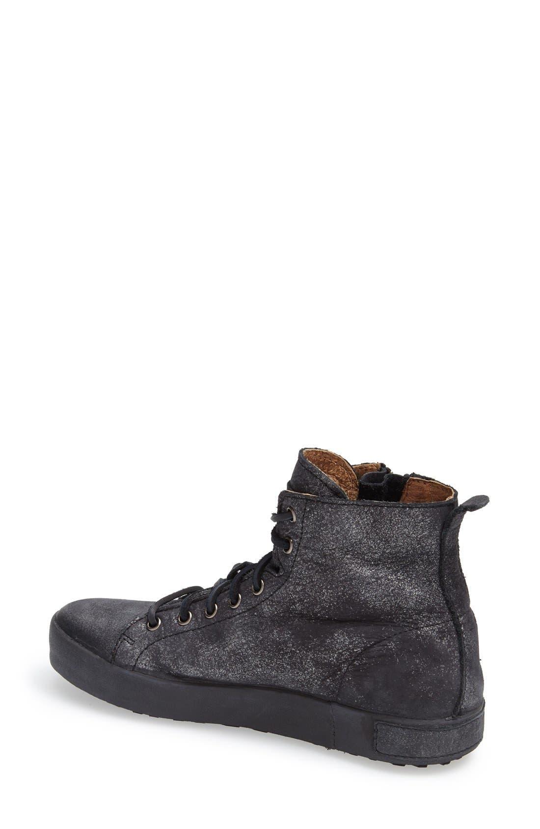 'JL' High Top Sneaker,                             Alternate thumbnail 2, color,                             Black Metallic