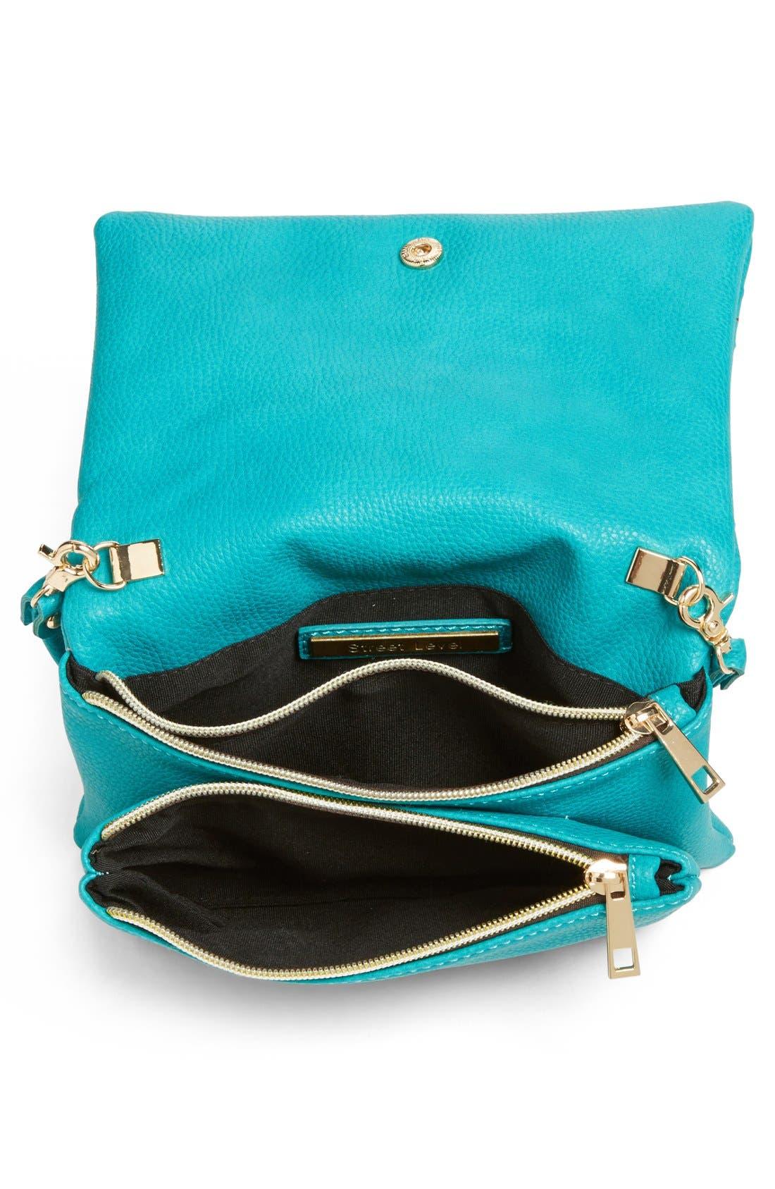 Alternate Image 3  - Street Level Perforated Faux Leather Mini Crossbody Bag