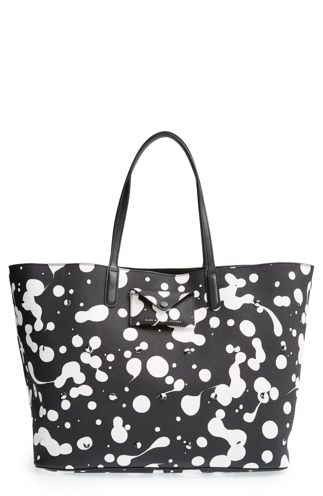 Alternate Image 1 Selected - MARC BY MARC JACOBS 'Metropoli Oil Drop Studs' Travel Tote