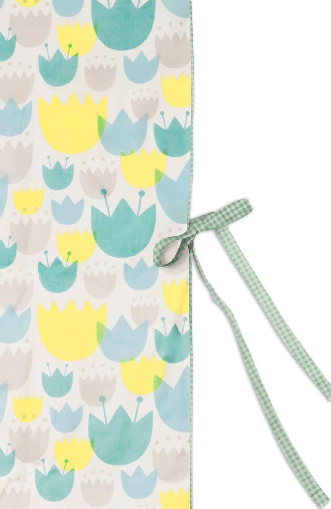 'Garden' Crib Sheet, Crib Skirt, Stroller Blanket & Wall Decals,                             Alternate thumbnail 4, color,                             Blue