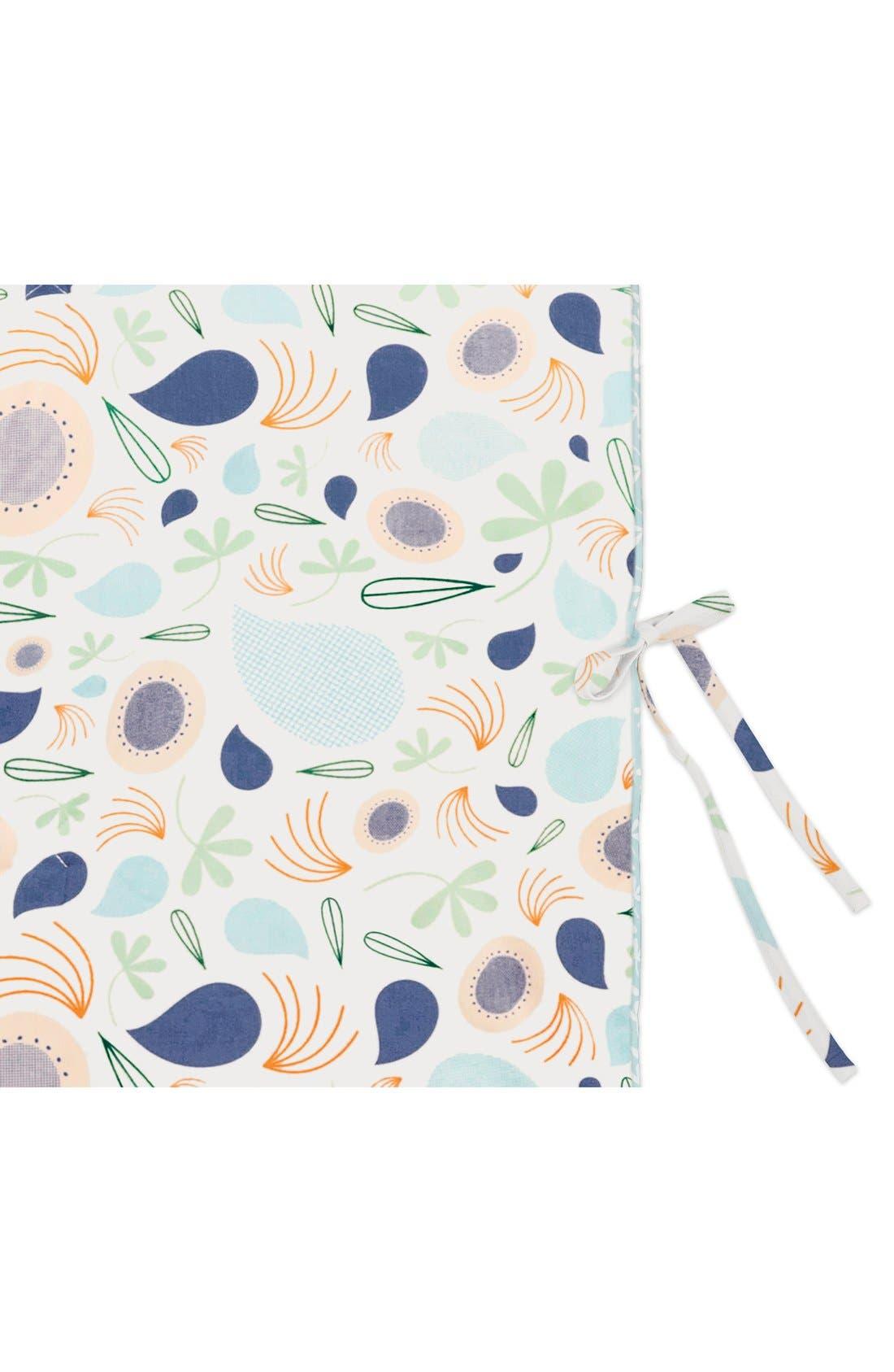 'Flora' Crib Sheet, Crib Skirt, Stroller Blanket & Wall Decals,                             Alternate thumbnail 5, color,                             Blue
