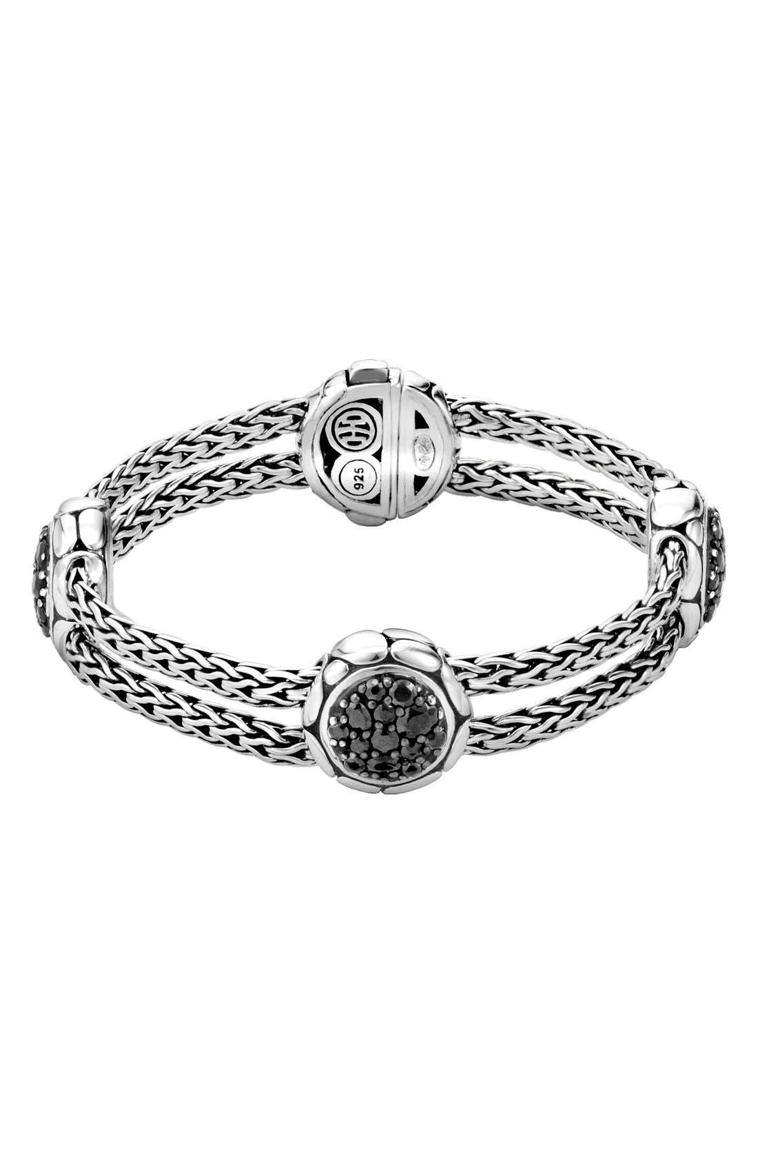 'Kali' Black Sapphire Bracelet,                             Main thumbnail 1, color,                             Silver/ Black Sapphire