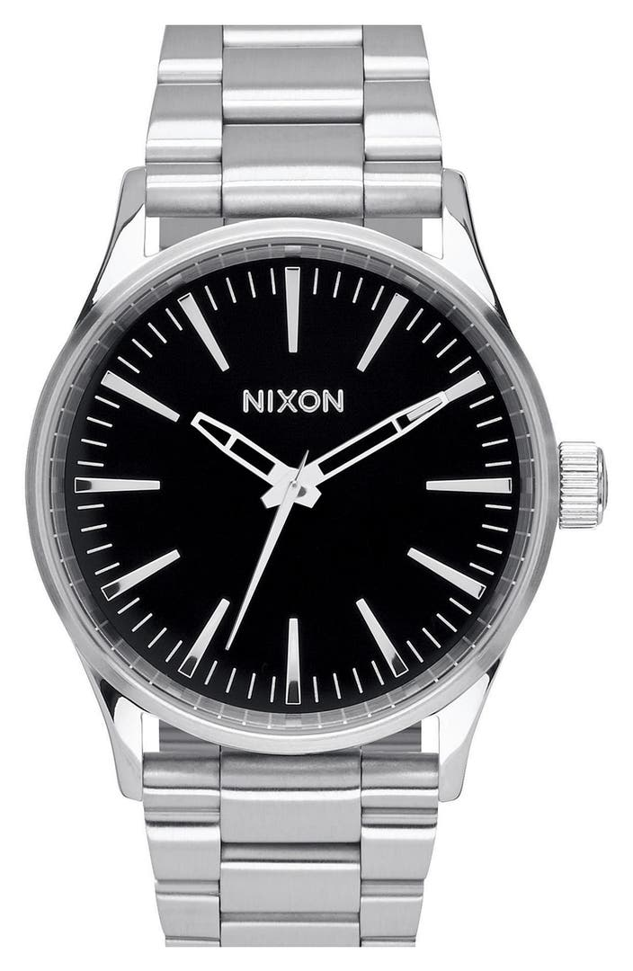 Nixon 39 the sentry 39 bracelet watch 38mm nordstrom for Watches 38mm