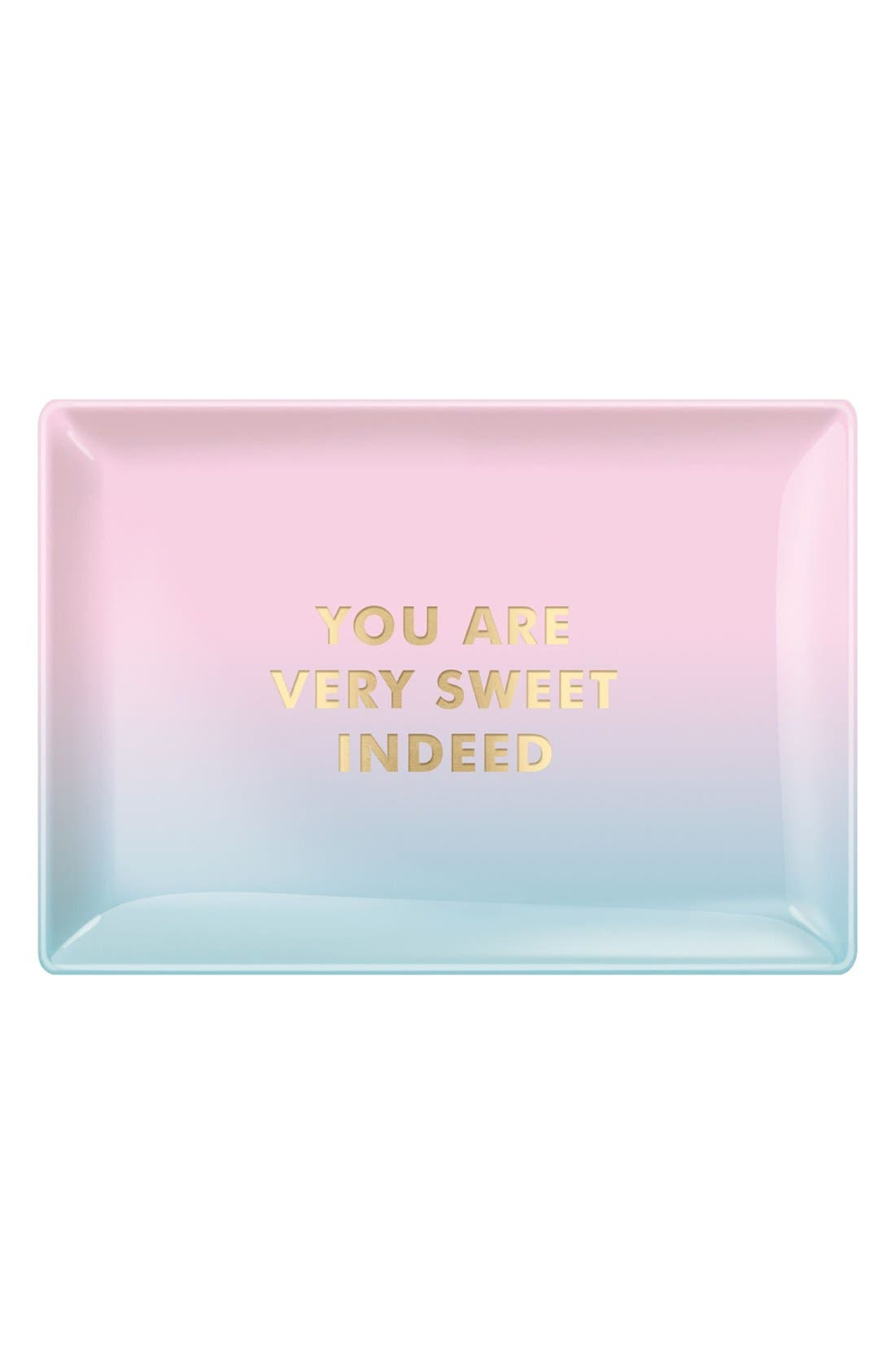 Alternate Image 1 Selected - Fringe Studio 'Sweet' Glass Trinket Tray