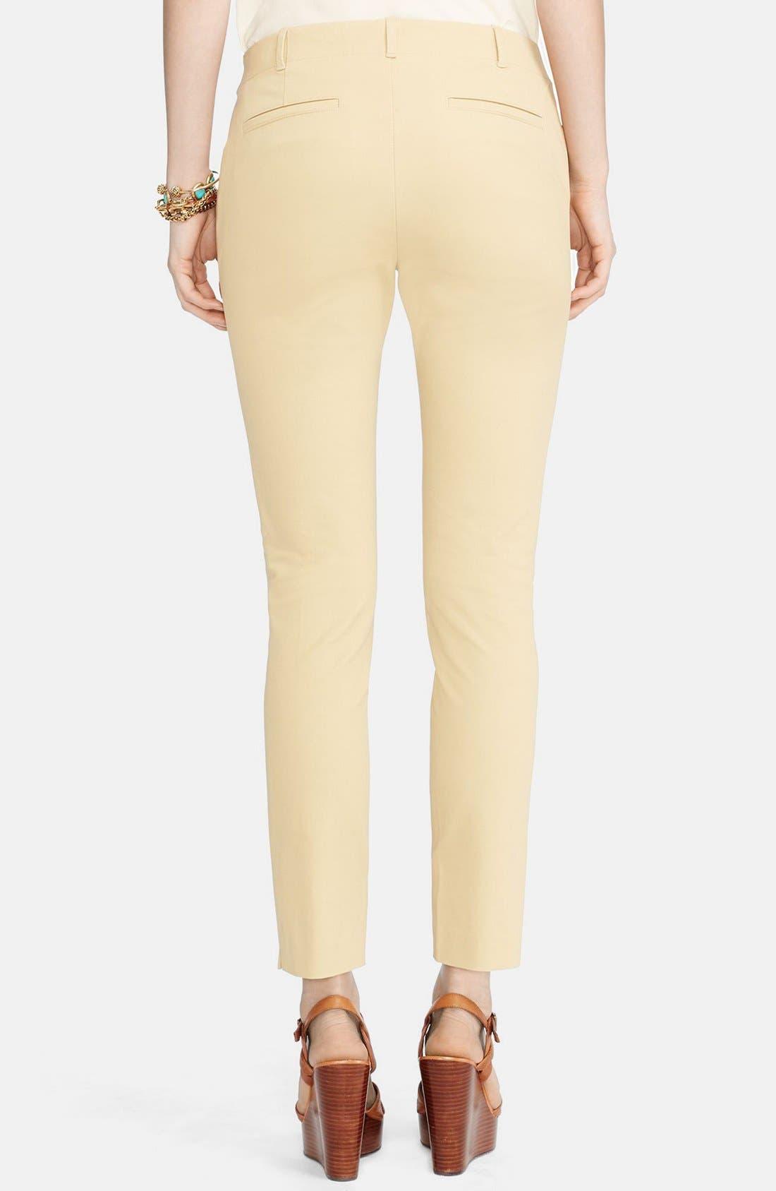 Alternate Image 2  - Lauren Ralph Lauren Stretch Cotton Skinny Pants (Regular & Petite)