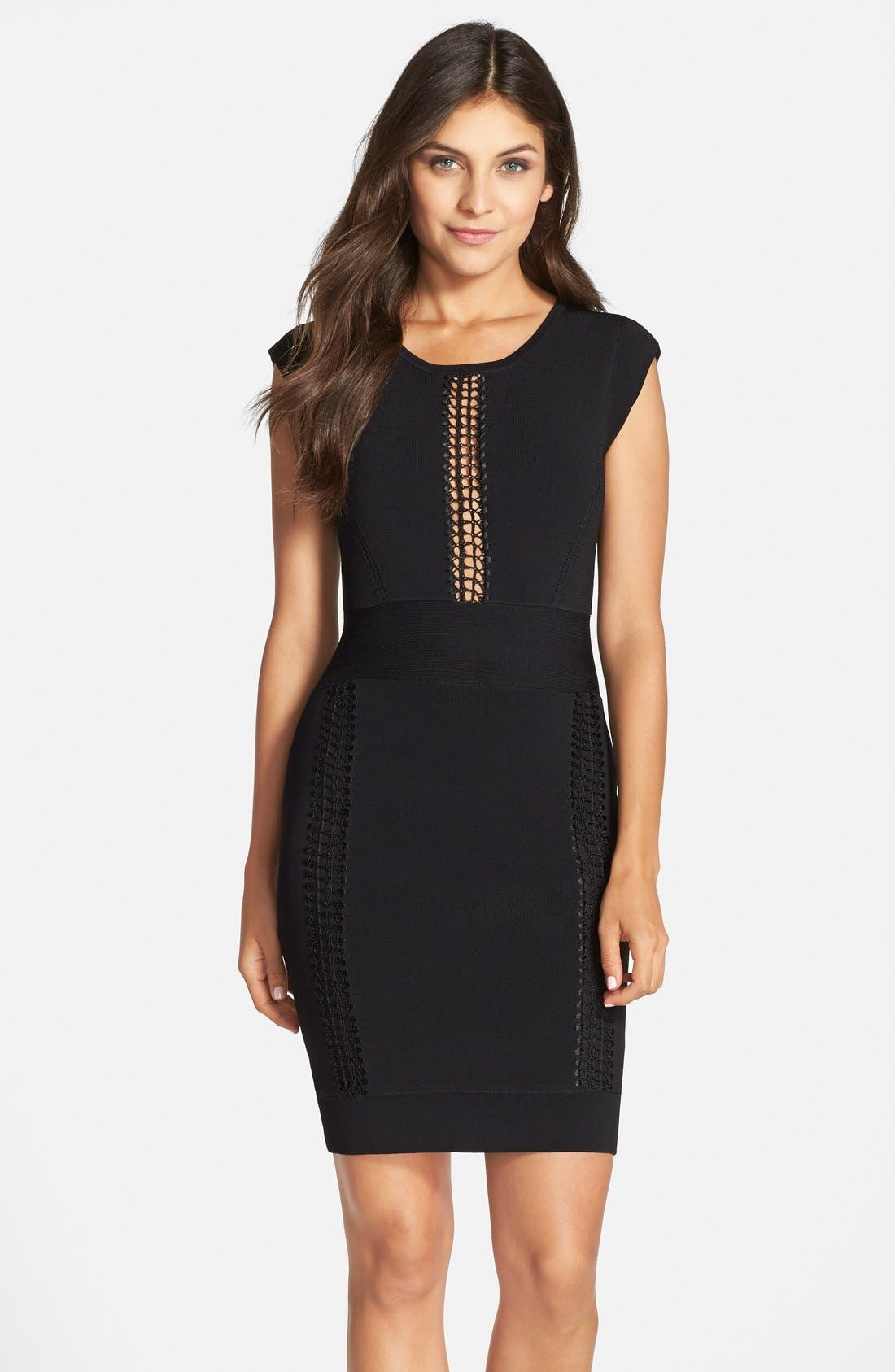 Main Image - French Connection 'Danni' Lace Inset Body-Con Dress
