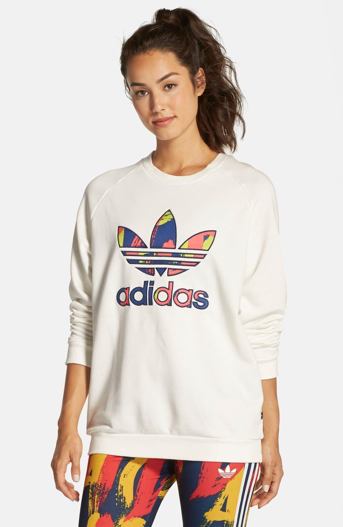 Alternate Image 1 Selected - adidasOriginals 'Paris' Logo Pullover Sweatshirt