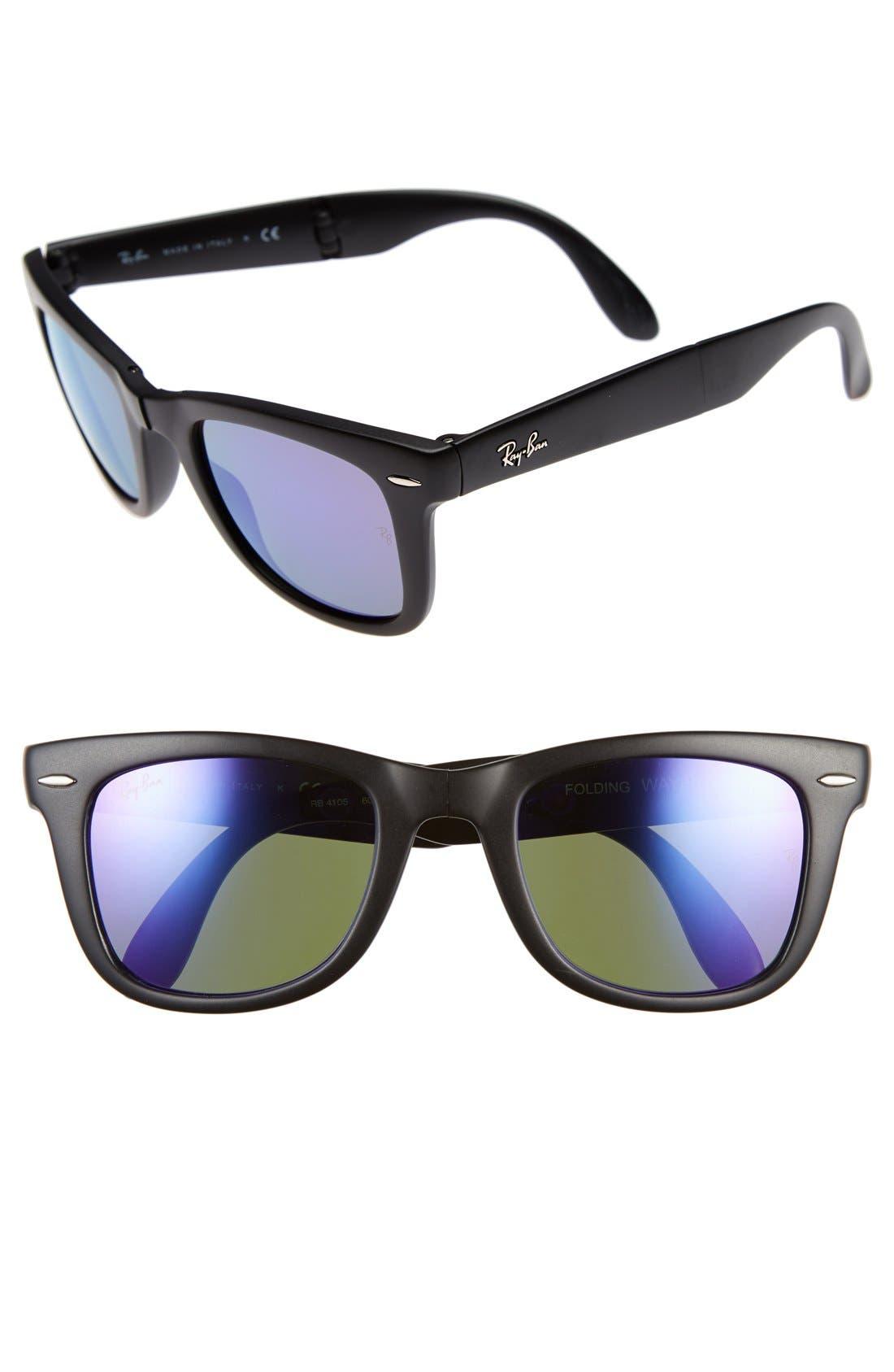 Main Image - Ray-Ban 'Folding Wayfarer' 50mm Sunglasses (Nordstrom Exclusive)