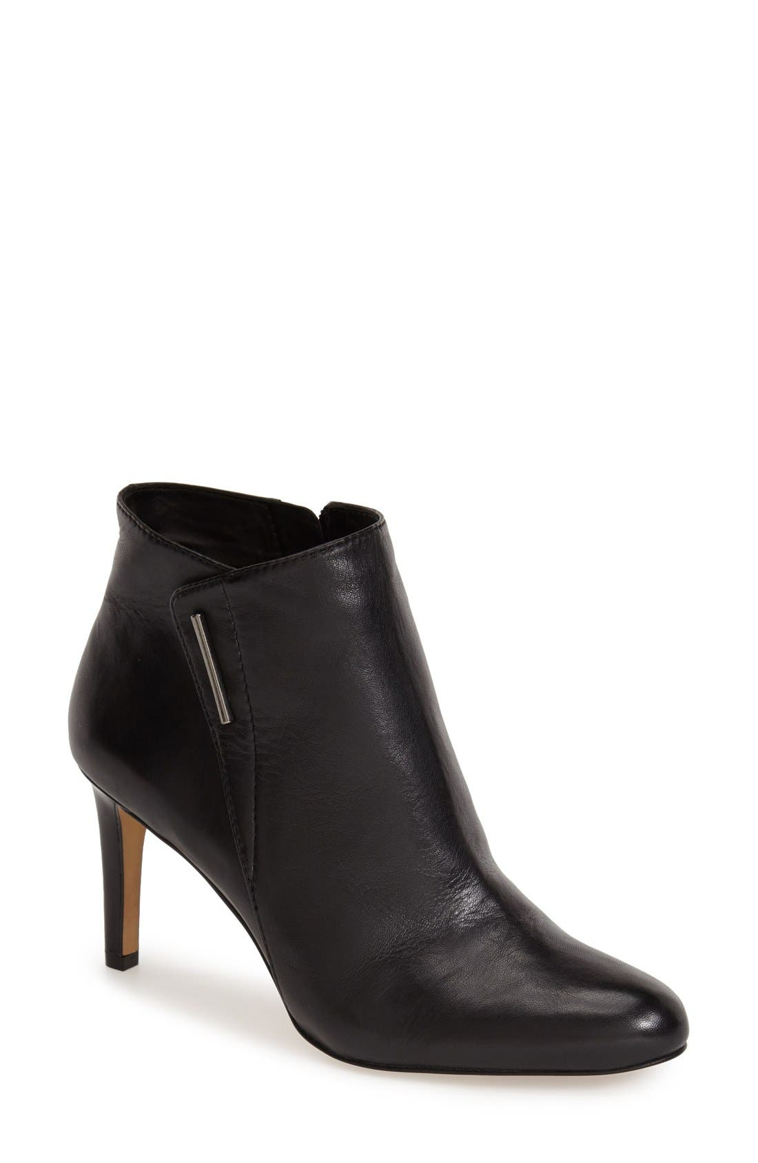 Asymmetrical Bootie,                             Main thumbnail 1, color,                             Black